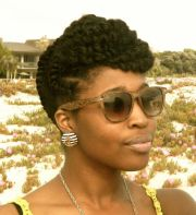 chunky flat twist updo front
