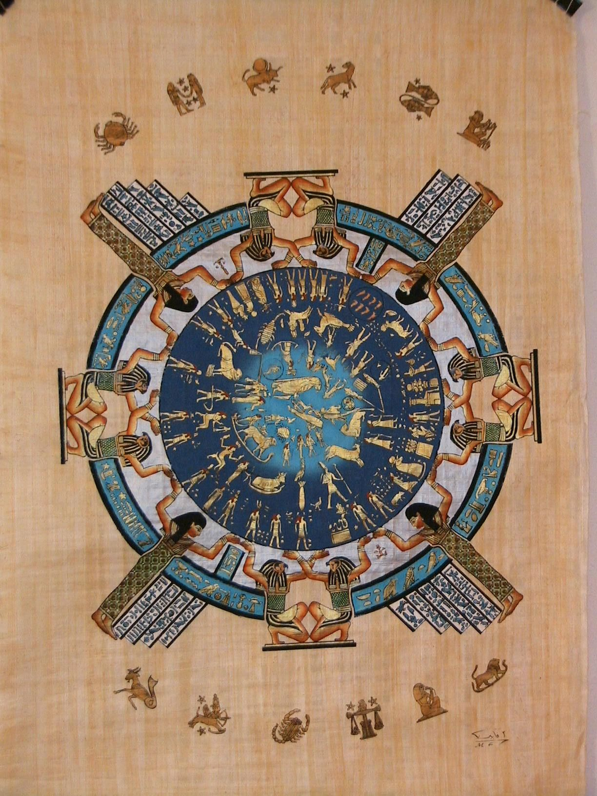 Ancient Egyptian Zodiac Calendar