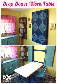 Drop down table | Woodworking Ideas | Pinterest | Drop ...