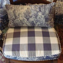 French Country Kitchen Chair Pads Rocking With Ties Reversible And Back Pillows