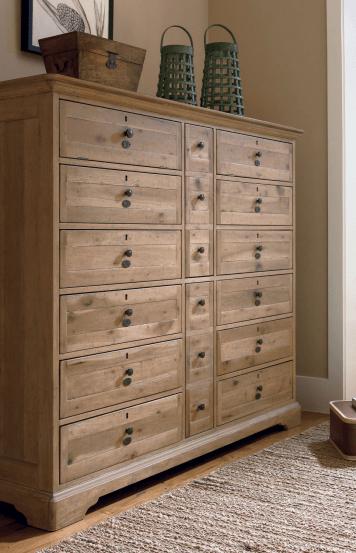 Tall Light Dresser Wood