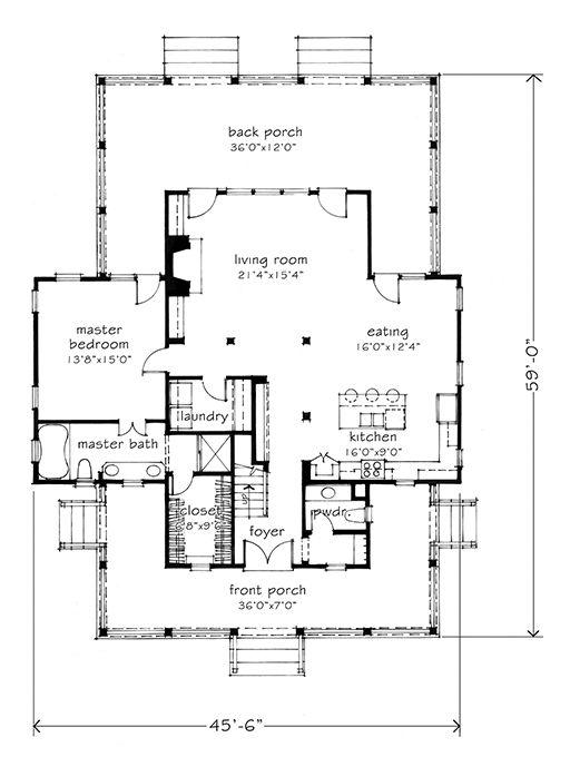 Feast on this floor plan! NEW HOUSE PLAN: Four Gables