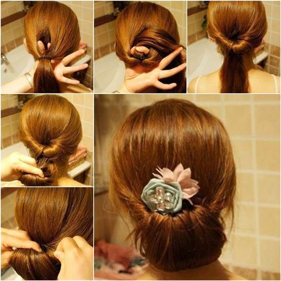 How To DIY Easy Twisted Hair Bun Hairstyle For Women Facebook