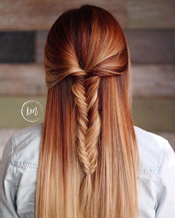 Pumpkin Spice Hair Color With Highlights Imgurl