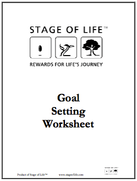 Download free Goal Setting Worksheet on StageofLife.com