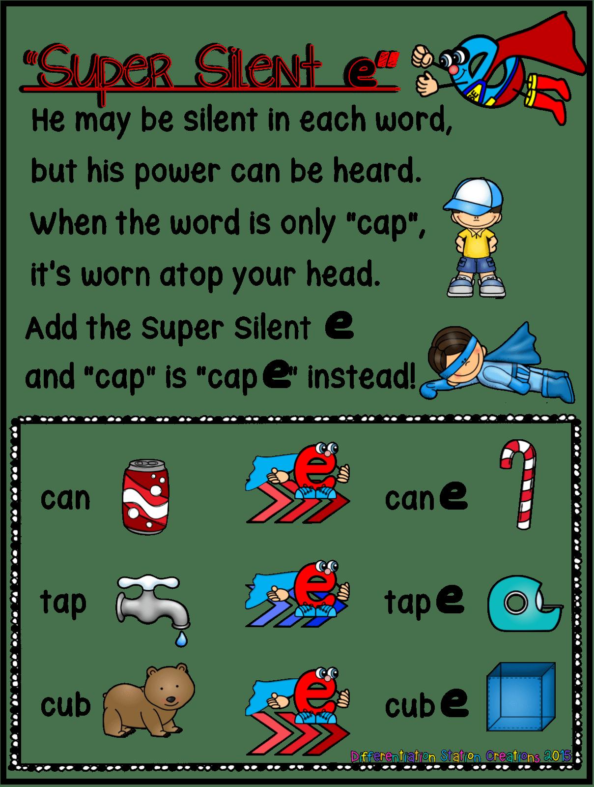 Free Silent E Poster