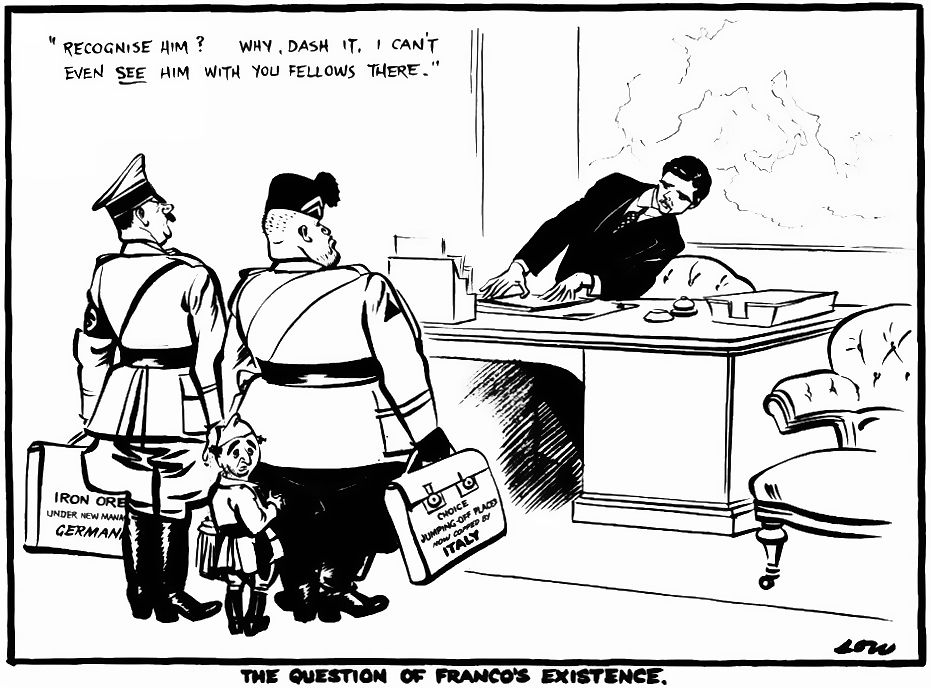 The question of Franco's existence, 1937. Imagen: David