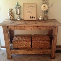Rustic Cream Sofa Table Set For Living Room Stan Console The Home Pinterest
