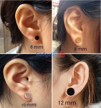 Stud earring sizes. 7