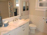 tile wainscoting | Shawn & Shelly's Master Bath Renovation ...