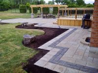 Interlock walkway and patio with a double border. | Fine ...