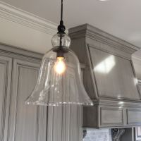 Kitchen, Large Glass Bell Hanging Pendant Light   Favorite ...
