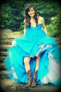 blue dress with cowboy boots | Dresses