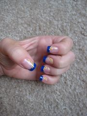 royal blue tips with yellowithorange
