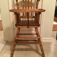Jenny Lind Rocking Chair Recliner Bed Vintage Wooden High Antique