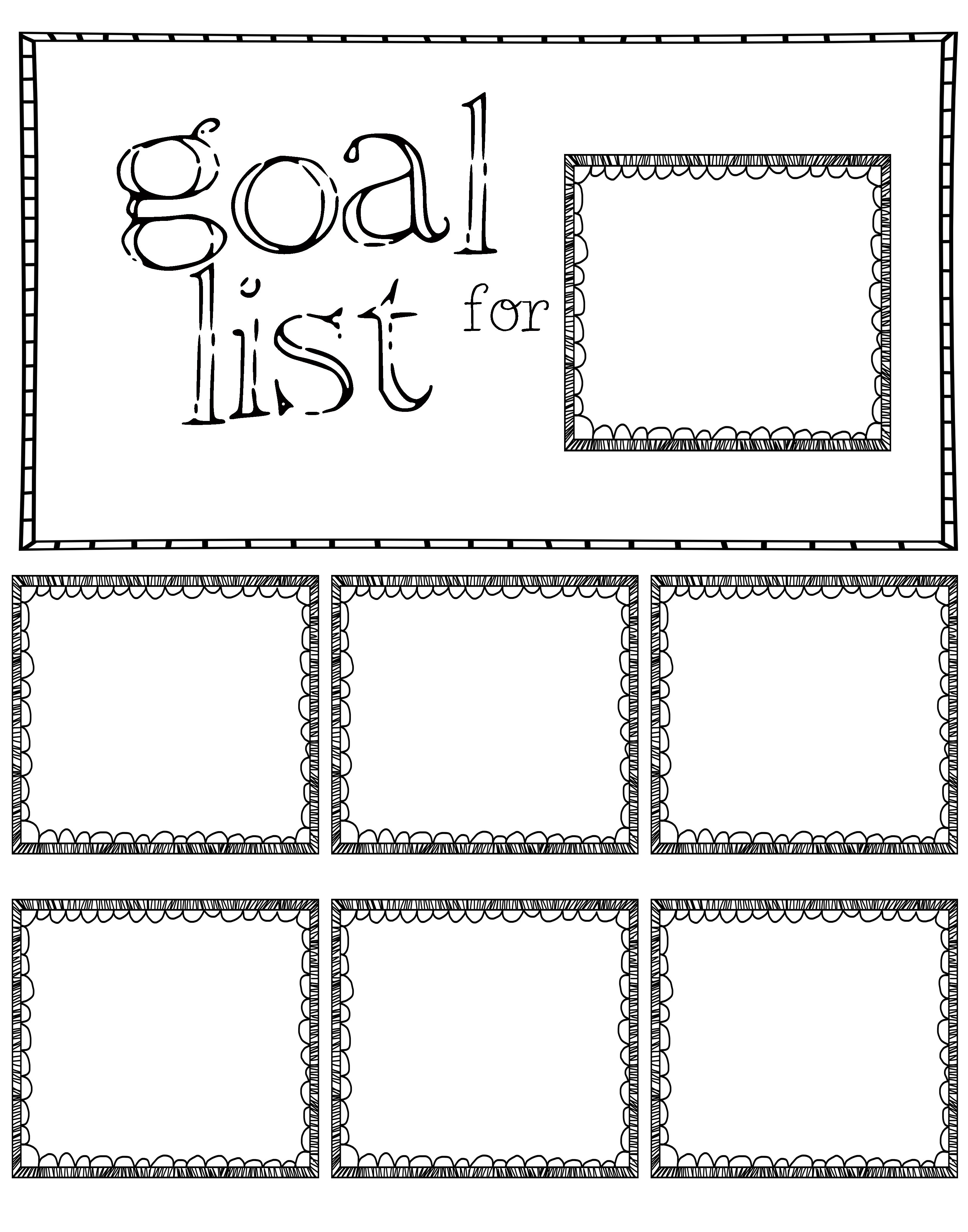 Post It Note Goal Sheet Made One 11x14