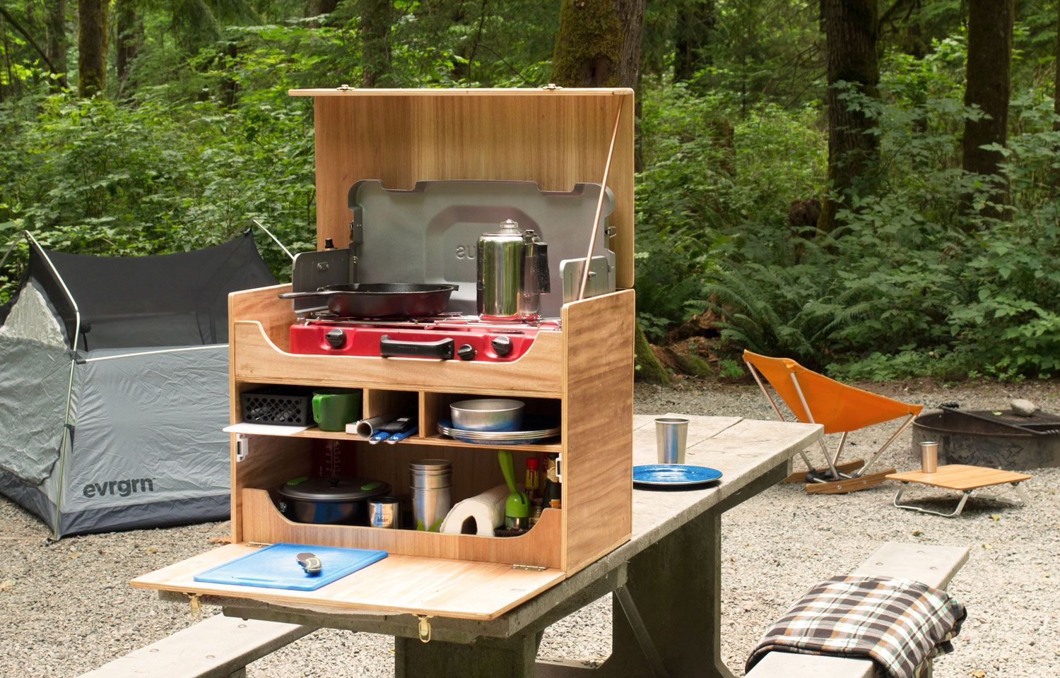 Feel organized with a chuck box camp kitchen Use this do