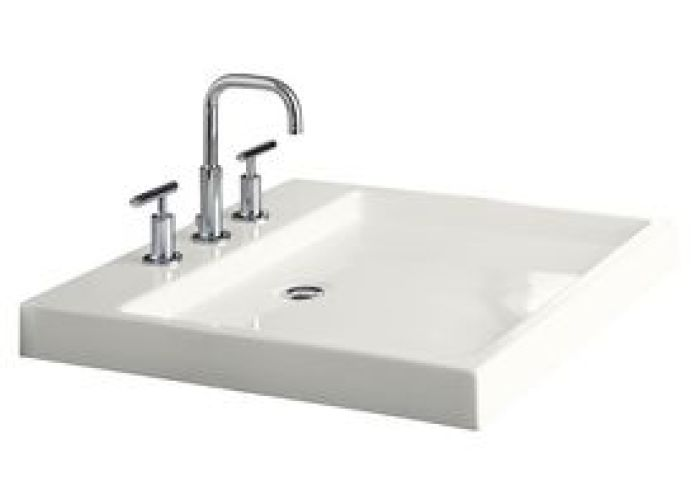 Kohler purist white fire clay drop in rectangular bathroom sink with  also