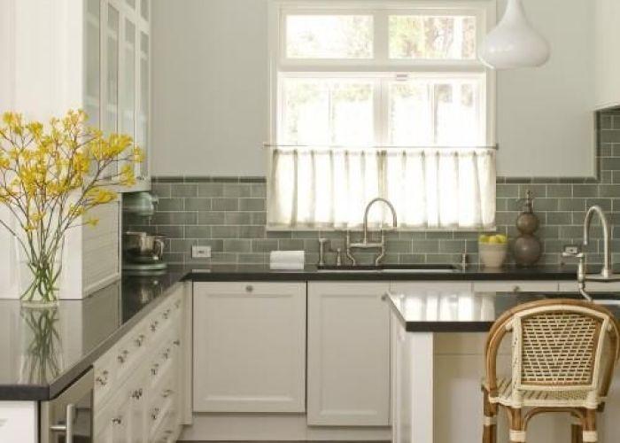 Studio william hefner kitchens green subway tiles tile backsplash also