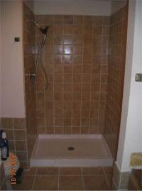 Tiled shower stall   Completed tile shower stall ...
