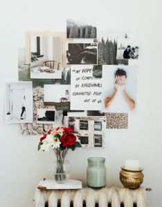 Notes on design presents how to develop your brand using  mood board that includes colors also rh pinterest