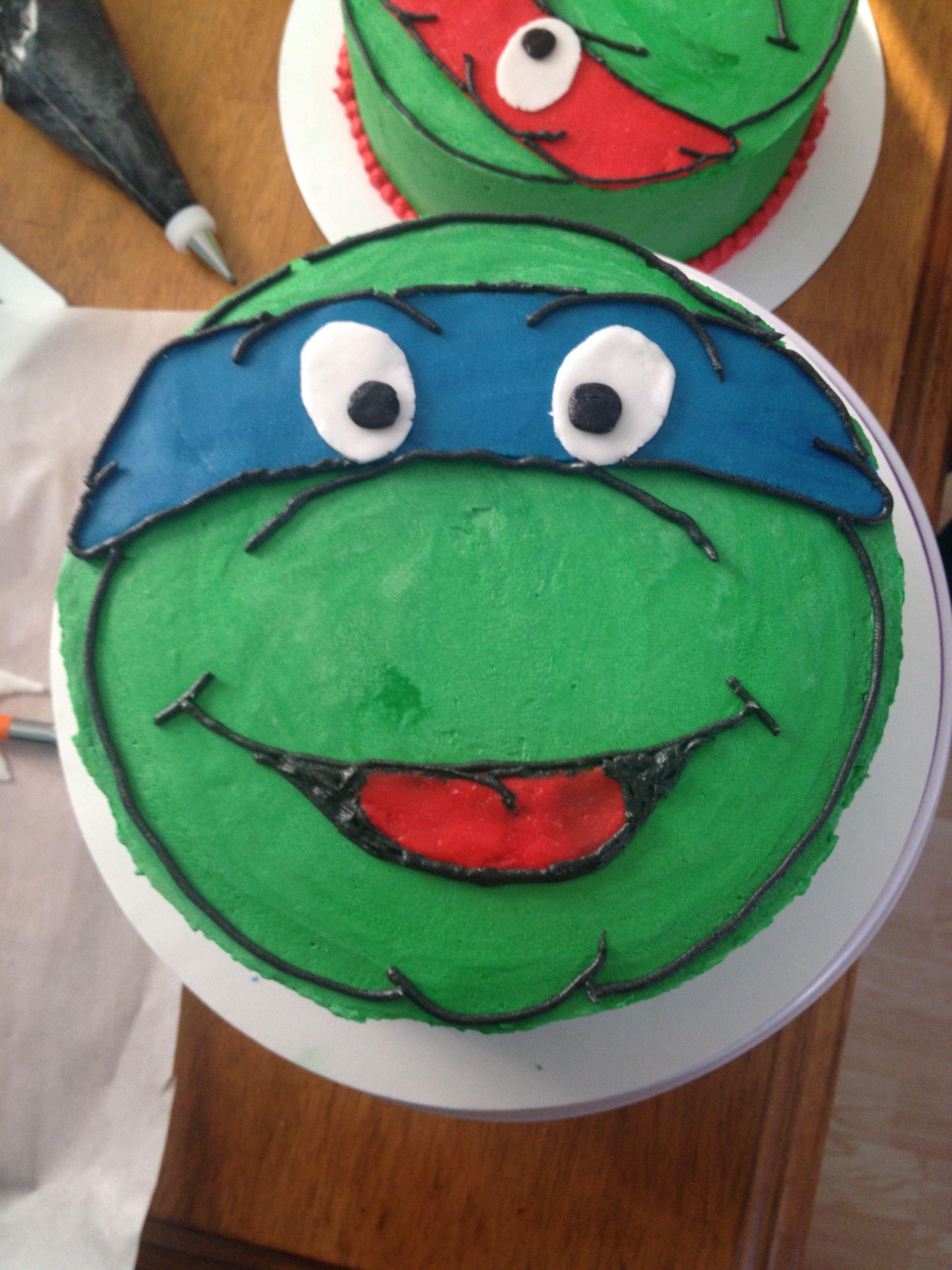 Lucas S Ninja Turtle Cake