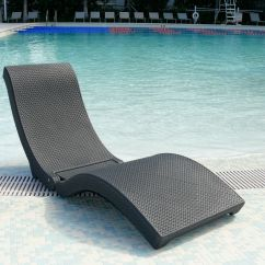 Chaise Lounge Chairs Pool Ikea Dining Room Water In Outdoor Furniture