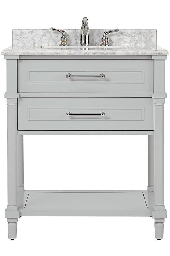 Aberdeen Open Shelf Single Vanity  basement ideas