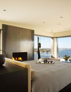 Bedroom design awesome with ocean view glass wall windows large pictures decoration ideas also http bebarang the best interior for rh pinterest