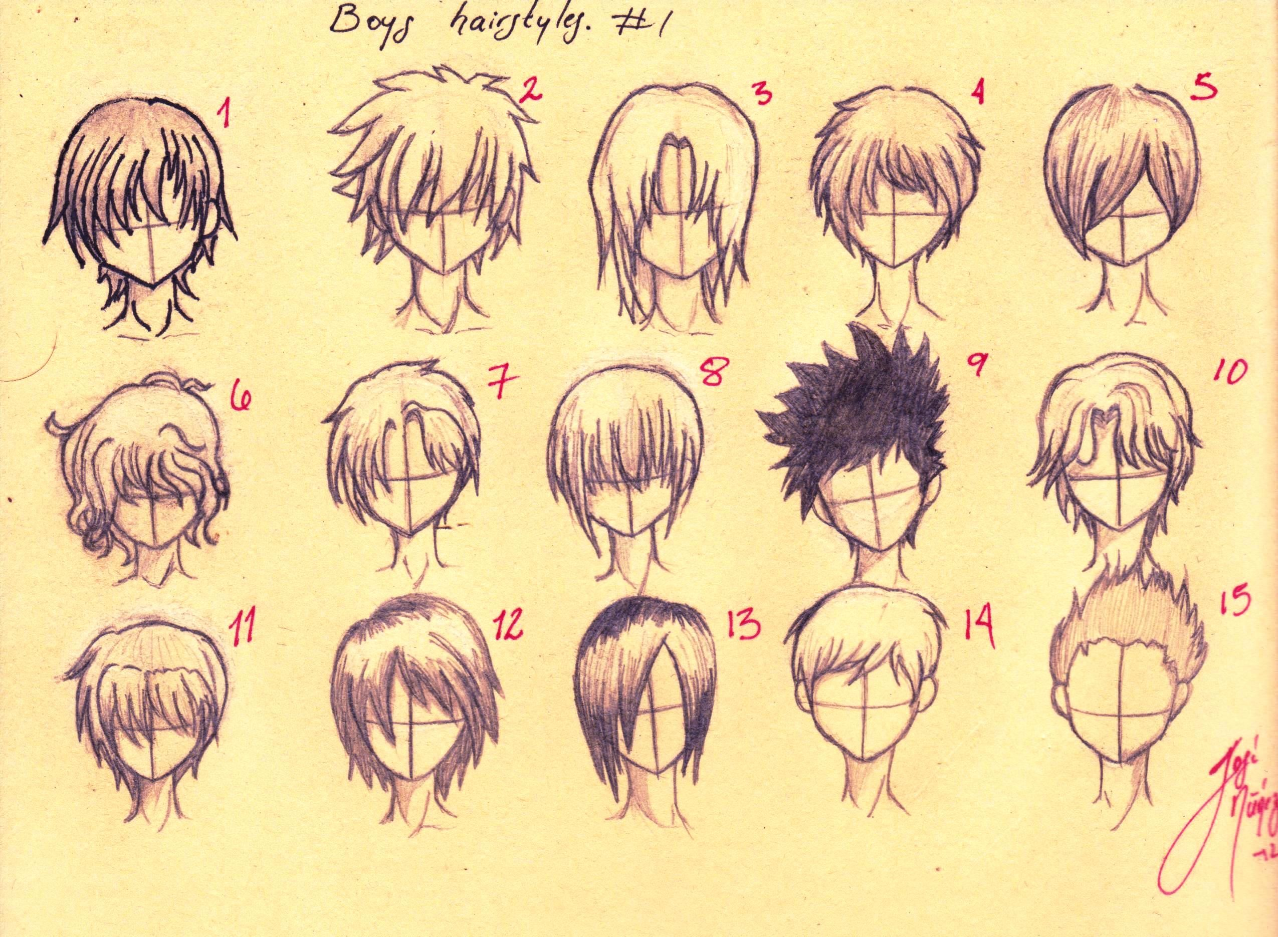 Boys Hairstyles Anime Boys Hairstyles All Fifteen First