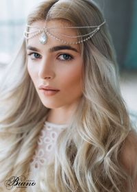 Wedding Chain Headpiece, Bridal Hair Jewelry, Chain Head ...