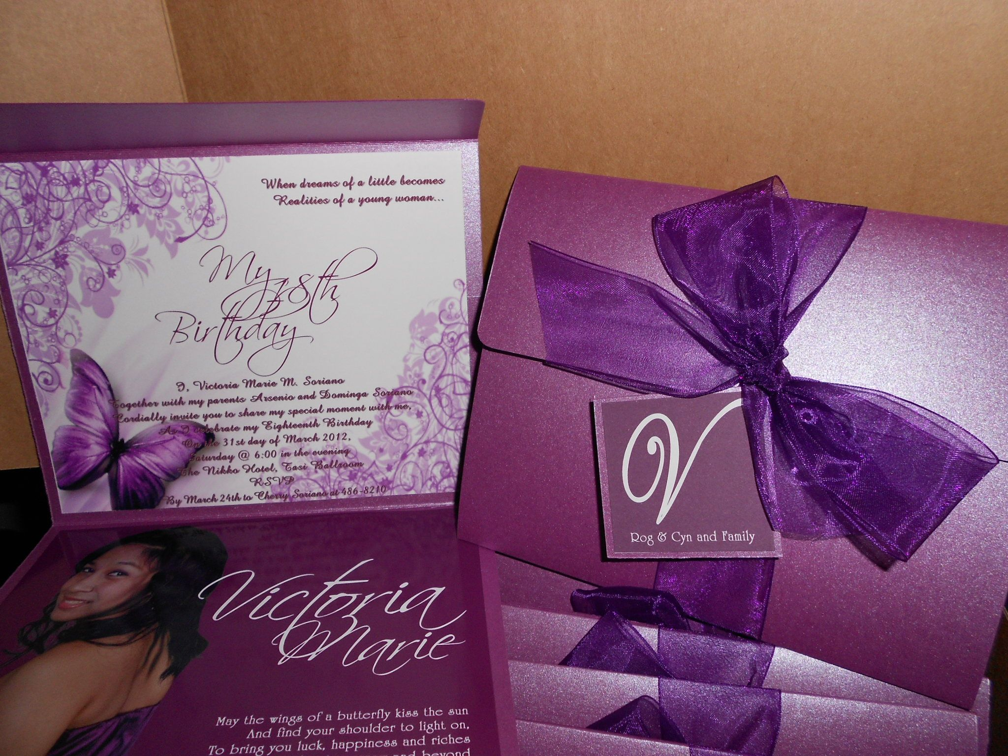 "18th Birthday Invitation ""Debut"" Invitations"
