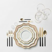 RENT: Anna Weatherley Chargers in Desert Rose/Gold + Anna ...