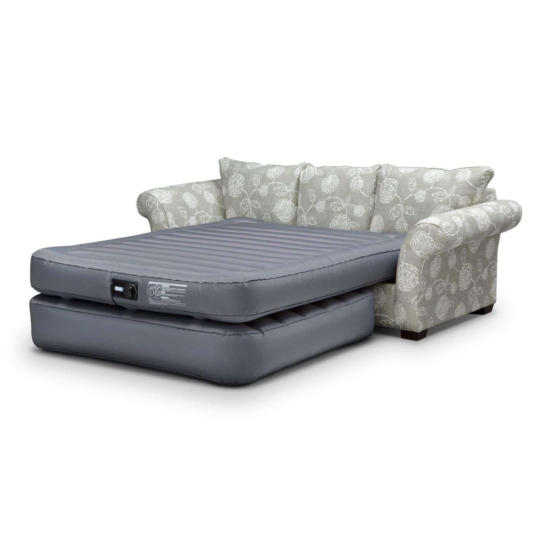 air mattress for rv sleeper sofa dark walnut table queen size