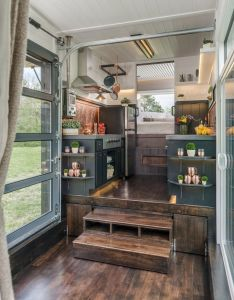 Escher tiny house on wheels by new frontier homes interior also rh in pinterest