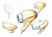 hair-dryer sketches industrial