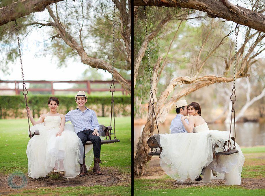 44 Caversham House Wedding Photo On Swing Photography Idea's