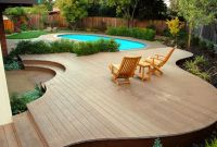 small backyard above ground swimming pool with deck ideas ...