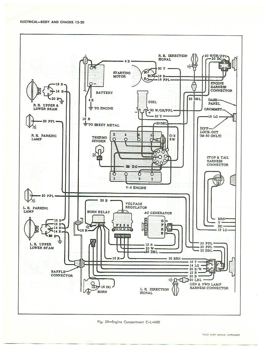 wiring diagram for 1964 chevy truck