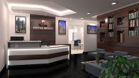 modern office reception | Strong & Simple Modern approach ...