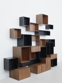 Furniture, Majestic Contemporary Book Shelving System ...