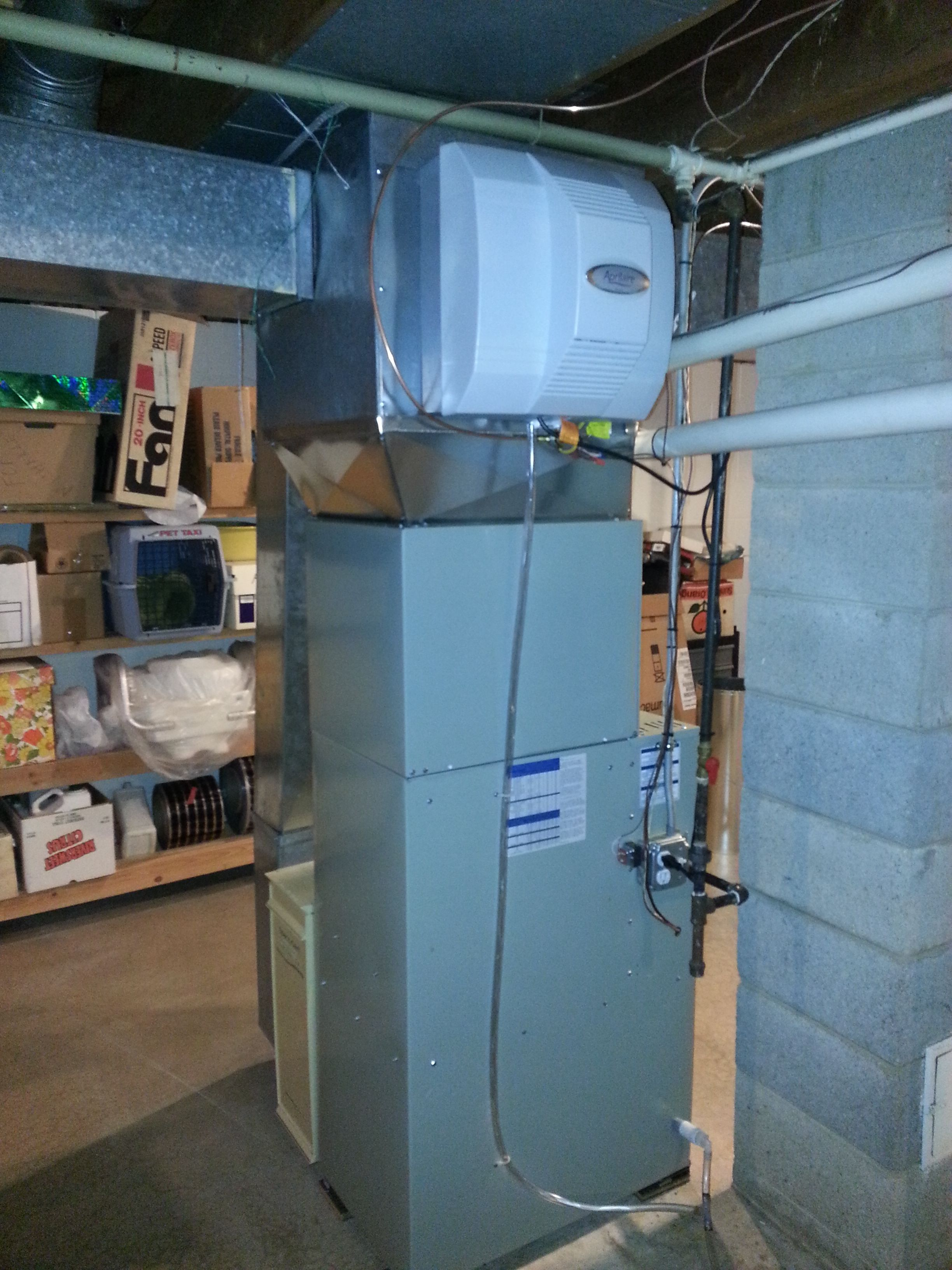 American Standard Two Stage Furnace, Cased Coil, and Whole