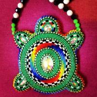 Beaded turtle design | Native American Beadwork ...