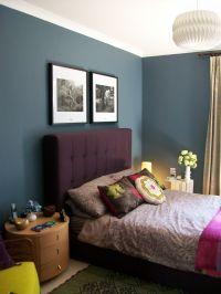 HABITAT ART FRAMES ABOVE BED BEDROOM WALL DULUX steel ...