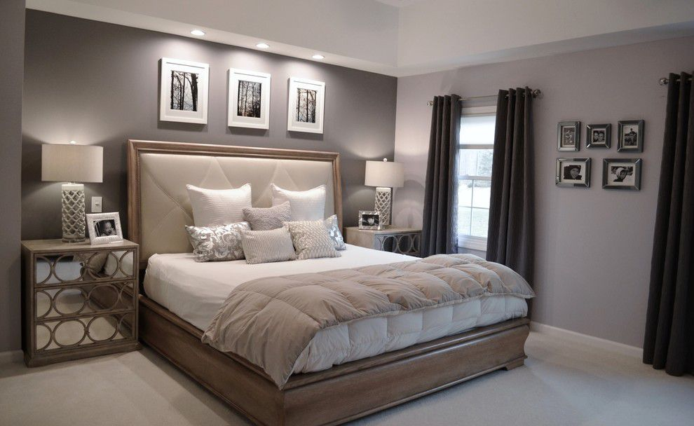Ben Moore Violet Pearl  Modern Master Bedroom Paint