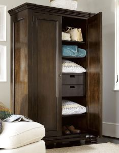 Sonoma vintage brown door vintner   armoire closet also rh pinterest