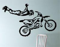 Dirt Bike Biker Superman Trick motorcycle Vinyl Wall Decal ...