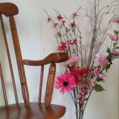 Rocking Chair For Autistic Child Bud Light Keller And Flowers I Bought At Hobby Lobby