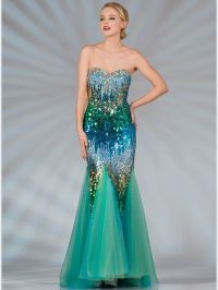 Blue and Green Sequin Mermaid Prom Dress. Style #: JC2517 ...
