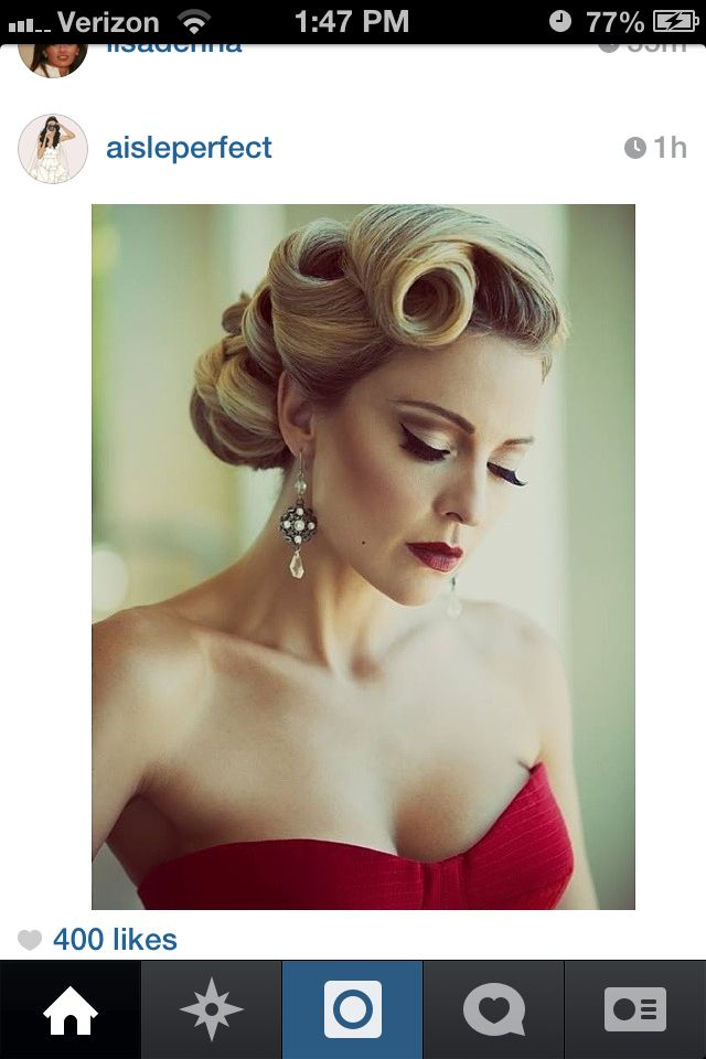 Old Hollywood Glamour Updo Makeup & Hair Style Pinterest